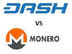 dash vs monero